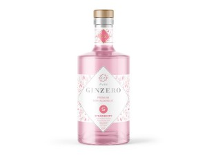 GINZERO 12 BOTANICS STRAWBERRY gin bezalkoholowy 700 ml